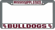 Mississippi State Bulldogs Chrome License Plate Frame