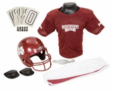 Mississippi State Bulldogs Deluxe Youth / Kids Football Helmet Uniform Set
