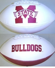 Mississippi State Bulldogs Full Size Signature Embroidered Football