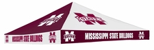 Mississippi State Bulldogs Maroon / White Checkerboard Logo Tent Replacement Canopy