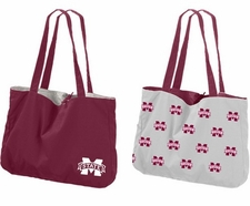 Mississippi State Bulldogs Reversible Tote Bag