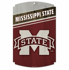 Mississippi State Bulldogs Wood Sign