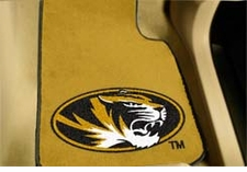 Missouri Tigers 2-Piece Carpeted Car Mats Front Set