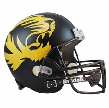 Missouri Tigers Black Alt Large Tiger Riddell Deluxe Replica Helmet