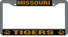 Missouri Tigers Chrome License Plate Frame
