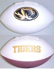 Missouri Tigers Fotoball Signature Embroidered Full Size Football