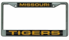 Missouri Tigers Laser Cut Chrome License Plate Frame