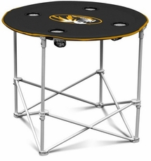 Missouri Tigers Round Tailgate Table