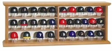 MLB 30 Piece Pocket Pro Batting Helmet Set with Wood Display Case