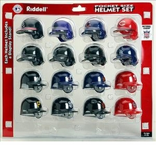 MLB National League Pocket Pro Batting Helmet Set
