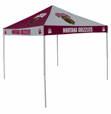 Montana Grizzlies Maroon / Gray Checkerboard Logo Canopy Tailgate Tent