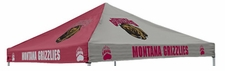 Montana Grizzlies Maroon / Gray Logo Tent Replacement Canopy