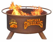 Montana Grizzlies Outdoor Fire Pit