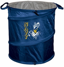 Navy (Naval Academy) Midshipmen Tailgate Trash Can / Cooler / Laundry Hamper