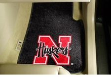 Nebraska Huskers 2-Piece Carpeted Car Mats Front Set