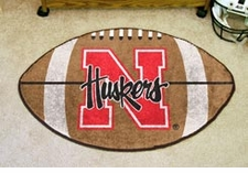 "Nebraska Huskers 22""x35"" Football Floor Mat"