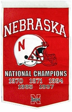 Nebraska Huskers 24 x 36 Football Dynasty Wool Banner