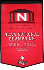 Nebraska Huskers 24 x 36 Volleyball Dynasty Wool Banner