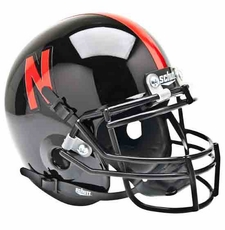Nebraska Huskers Black Schutt Authentic Mini Helmet