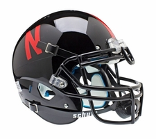 Nebraska Huskers Black Schutt XP Full Size Replica Helmet