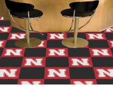 Nebraska Huskers Carpet Tiles - 20 18x18 Square Tiles