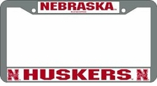Nebraska Huskers Chrome License Plate Frame