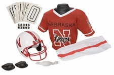 Nebraska Huskers Deluxe Youth / Kids Football Helmet Uniform Set