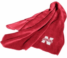 Nebraska Huskers Fleece Throw