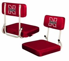 Nebraska Huskers Hard Back Stadium Seat