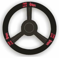 Nebraska Huskers Leather Steering Wheel Cover