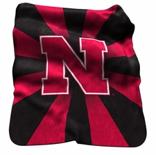 Nebraska Huskers Raschel Throw