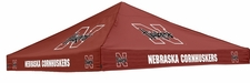 Nebraska Huskers Red Logo Tent Replacement Canopy