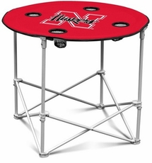 Nebraska Huskers Round Tailgate Table