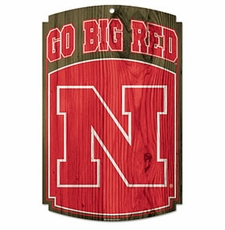 Nebraska Huskers Wood Sign