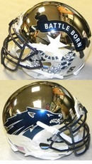 Nevada Wolfpack Battle Born Chrome XP Authentic Mini Helmet