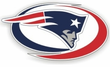 New England Patriots 12 x 12 Die-Cut Window Film Decal