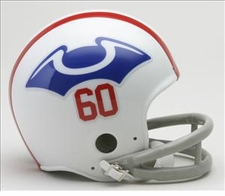 New England Patriots 1960 2-Bar Throwback Replica Mini Helmet