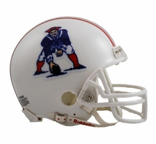 New England Patriots 1982-89 Throwback Replica Mini Helmet