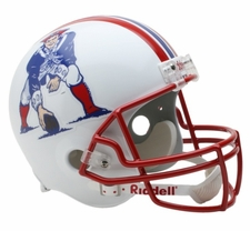 New England Patriots 1990-92 Throwback Riddell Deluxe Replica Helmet