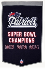 New England Patriots 24 x 36 Wool Dynasty Banner