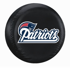 New England Patriots Black Large Spare Tire Cover
