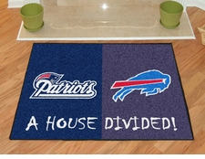 New England Patriots - Buffalo Bills House Divided Floor Mat