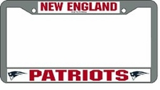 New England Patriots Chrome License Plate Frame
