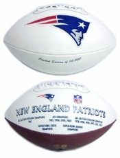 New England Patriots Embroidered Autograph Signature Series Football