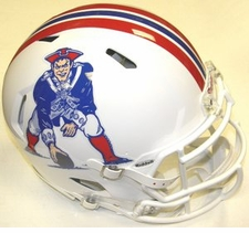 New England Patriots White Revolution Speed Riddell Authentic Helmet