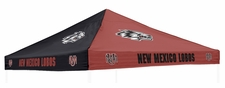 New Mexico Lobos Red / Black Logo Tent Replacement Canopy