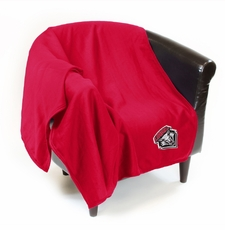 New Mexico Lobos Sweatshirt Throw Blanket