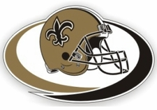 New Orleans Saints 12 x 12 Die-Cut Window Film Decal