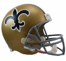 New Orleans Saints 1967-75 Throwback Riddell Deluxe Replica Helmet