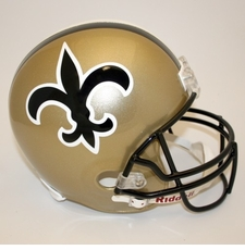 New Orleans Saints 1976-99 Throwback Riddell Deluxe Replica Helmet
